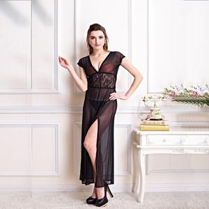 348509d3f4 Black Lace Nightgown