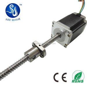 NEMA 23 81mm linear stepper motor with ball screw china factory