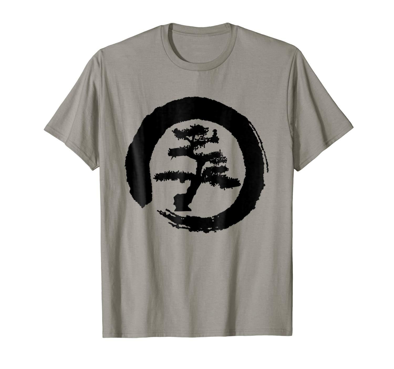 Zen Style Bonsai Tree Enso Circle T-Shirt