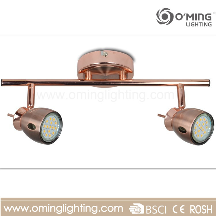 Wholesale Pure copper gu10 2 head lights led spot light ceiling spotlight lamp cheap price