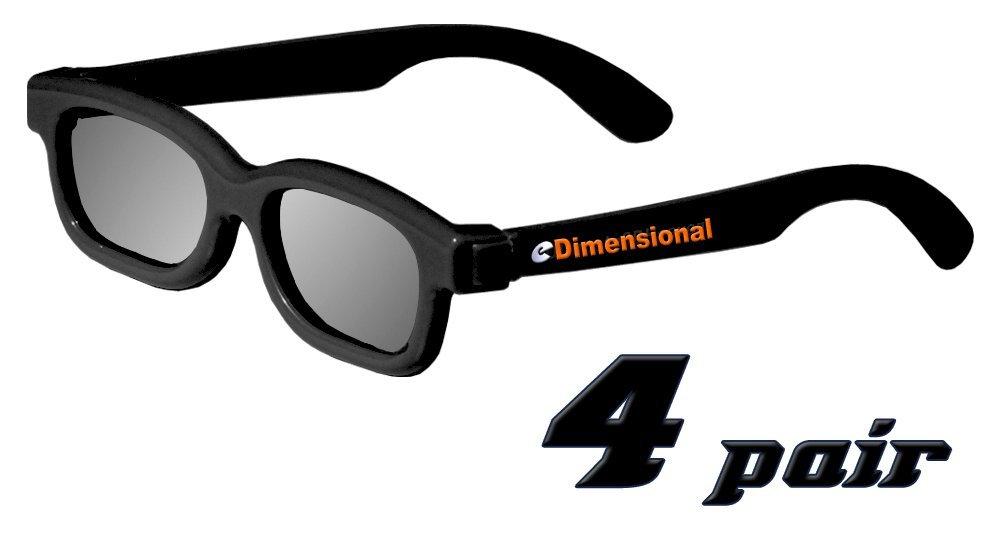 ED KIDS 4 Pack CINEMA 3D GLASSES For LG 3D TVs – Childrens Sized Passive Circular Polarized 3D Glasses