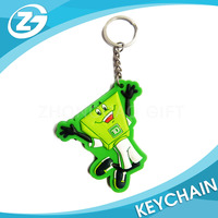 Logo Print Cheap Customized Promotional Gifts Wholesale Plastic Rubber Soft PVC Keychain