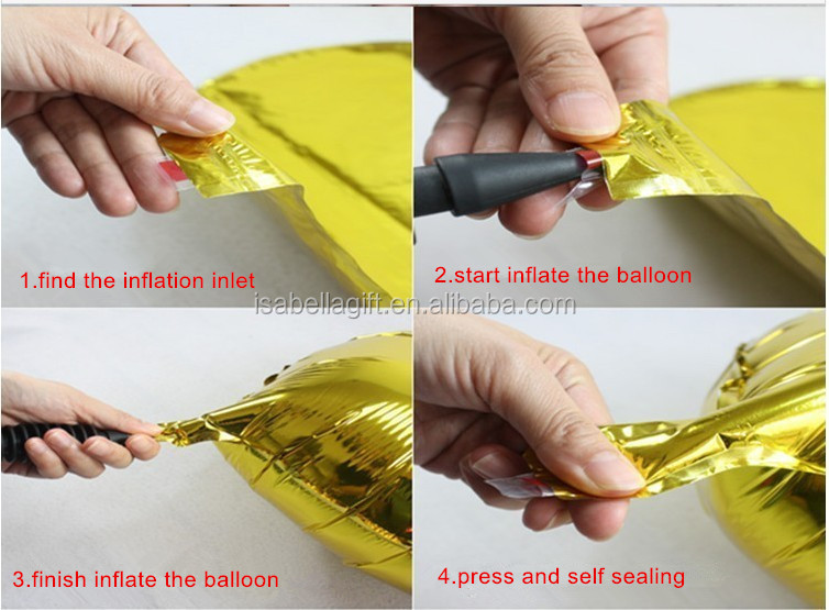China Cheap Good Cube Aluminum Foil Balloon With Decoration ...