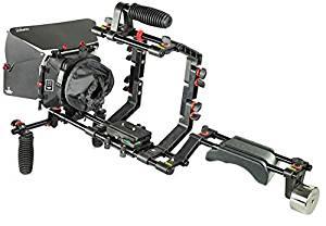 FILMCITY DSLR Camera Cage Shoulder Rig Kit (FC-02) Mattebox Sunshade for BlackMagic DSLR Camera
