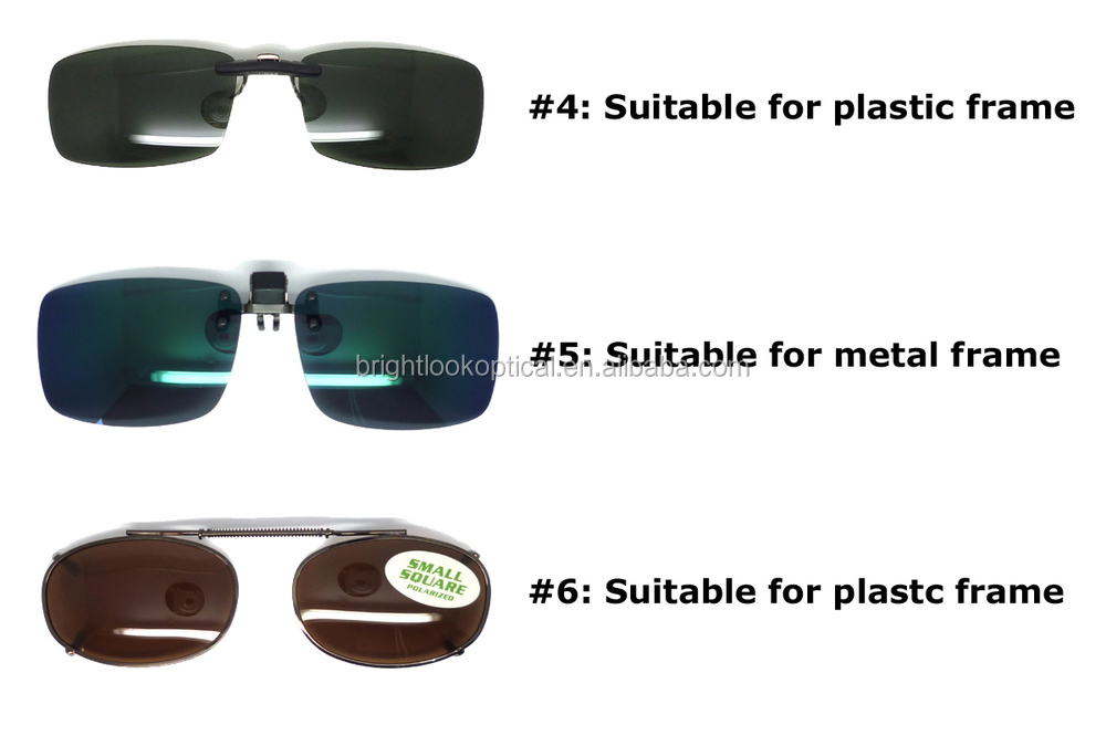 Factory direct fashion high quality custom logo popular clip on sunglasses