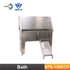 BTS-130 Eco Factory professional supplier pet care products free standing Stainless Steel Grooming bathtub with ramp