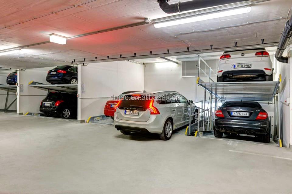 2 level mechanical car lift parking system/ double car parking ...