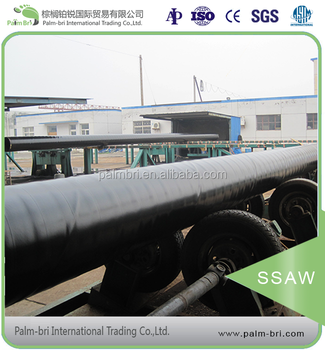 high hardness LSAW/ SSAW spiral round welded steel pipe used building material
