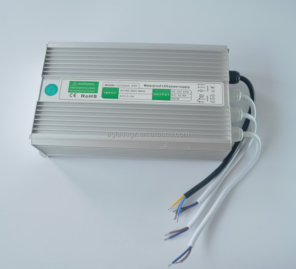 Factory Supply Waterproof Switching 12v 250w Led Power Supply Ip 67