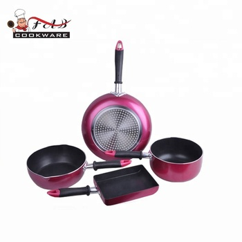 High quality induction bottom cooker pan  nonstick China frying pan  set