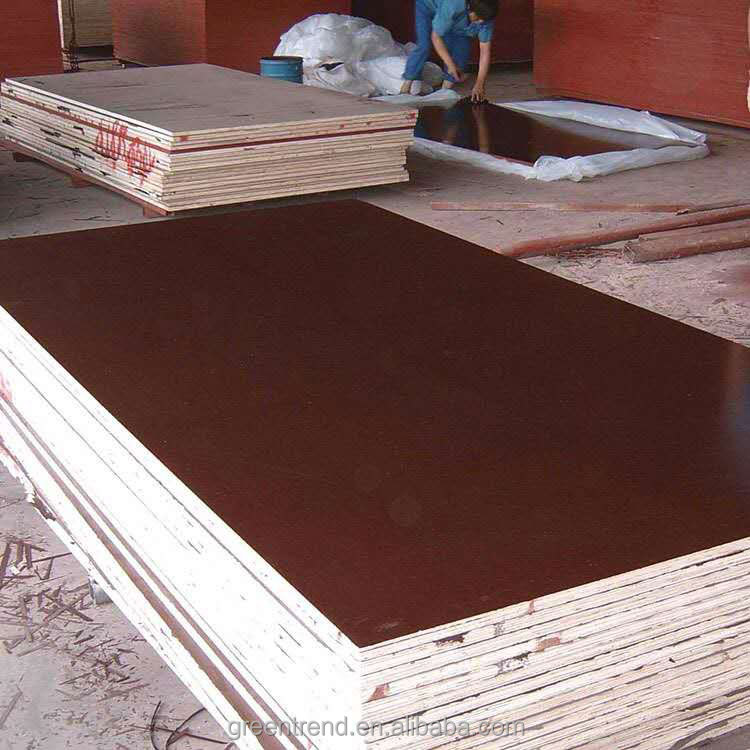 Greentrend film Poplar plywood building plywood high pressure laminated board