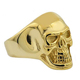 Wholesale Vintage Gold Plated Hand Carved Anatomical Skull Ring