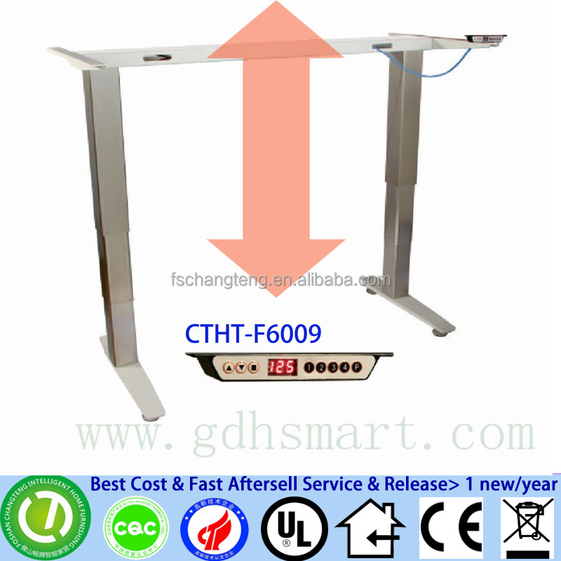 CTHT-F6009 Aluminum alloy frame height adjustable students table height with control panel height adjustable desk