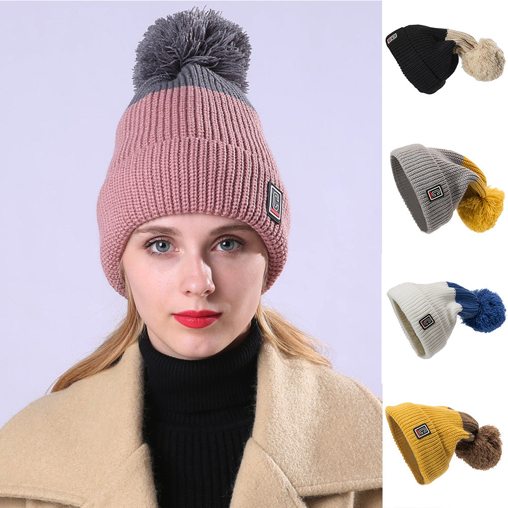 06a1e4aab0d Women Warm Crochet Winter Wool Knit Ski Beanie Skull Caps Hat Hairy ...