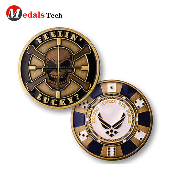 High quality cheap souvenir old gold soccer sport challenge coins