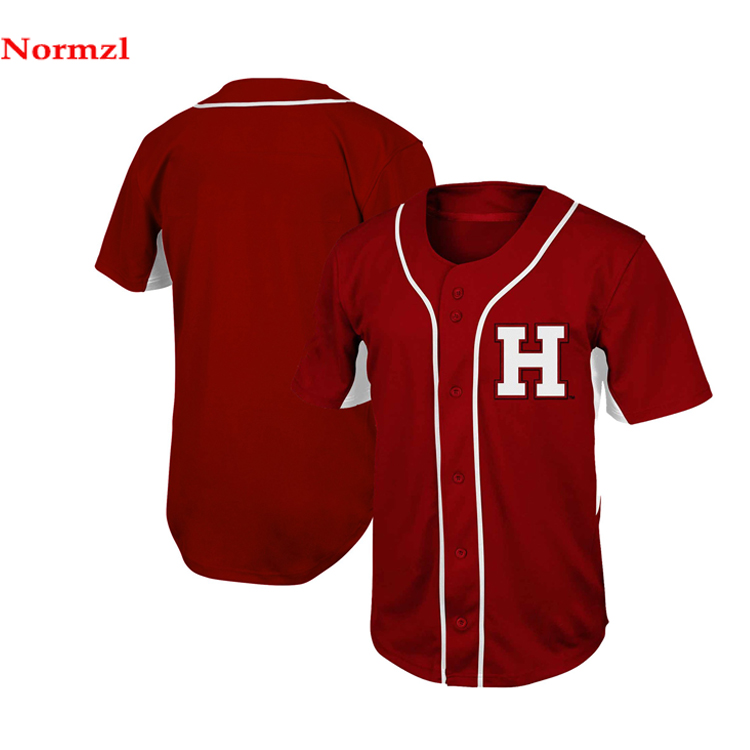 Gesublimeerd print team baseball jersey custom design baseball uniform stof