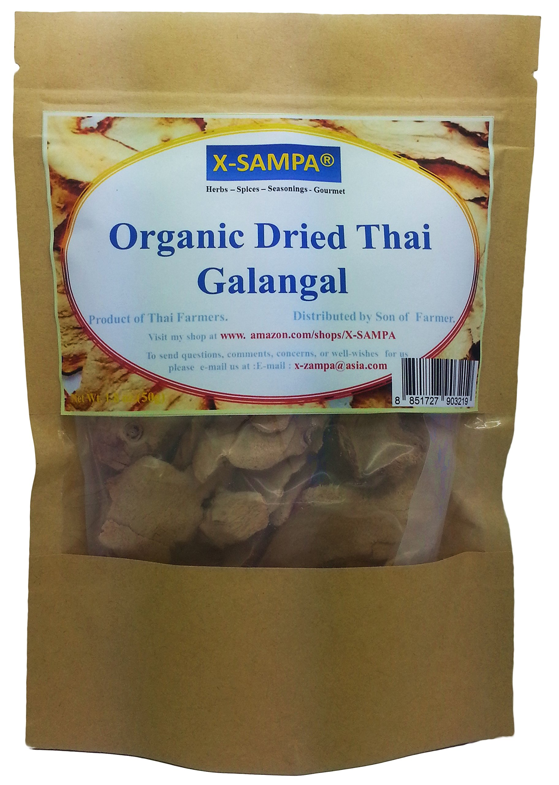Yours Kitchen Organic Dried Thai Galangal Slice From My Farm (1.8 Ounce)