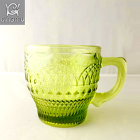 new designed China factory Eco-friendly glass coffee mug wholesale