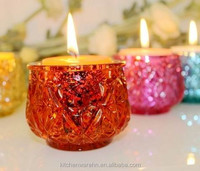 Haonai newest developed holder series,crackle glass votive candle holder