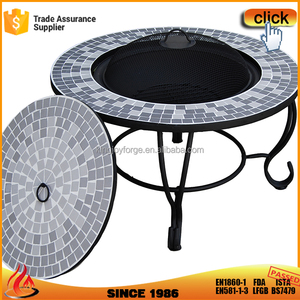 Artistical Camp Wood Burning Table Fire Pit For Heating And BBQ