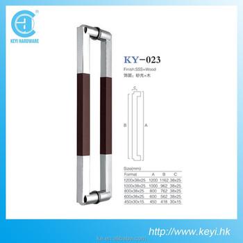 glass door steel tube door handle