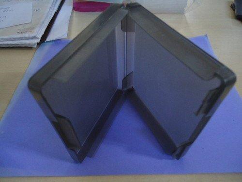 "5 (FIVE) - 3.5"" FLOPPY PC MAC DISK DISC STORAGE PORTABLE MINI CASE HOLDER - Holds 4 Floppy Disks / Diskettes - GREY"