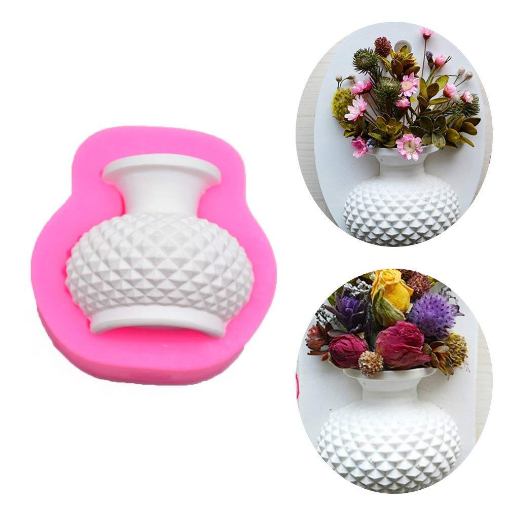 DIY Cake Decorating Molds,Creative Silicone 3D Flower Vase Shape Fondant Chocolate Candy Mould for Kitchen Bakery Baking,Handmade Soap Craft Molds