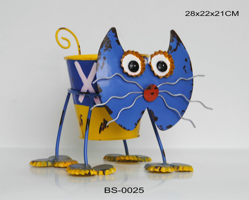 Wholesale Cat Shaped Home Wrought Iron Decor