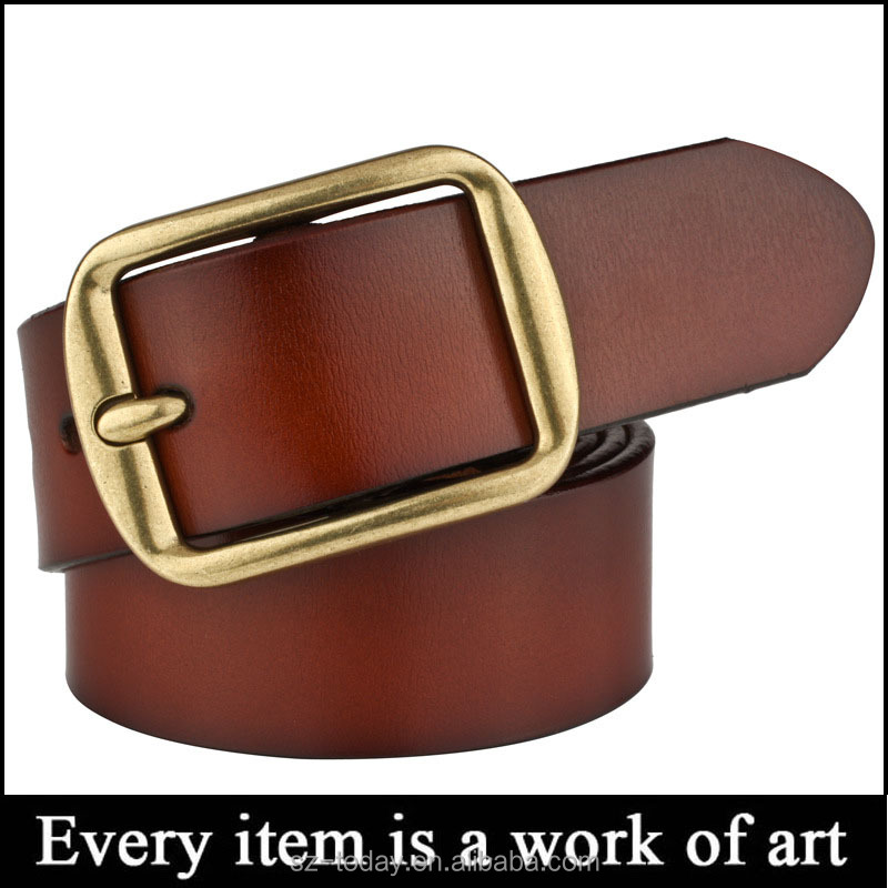 Men's genuine leather antique casual style dress jean single men leather belt