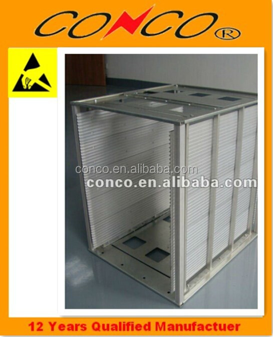 adjustable smt pcb magazine rack esd heat tolerant magazine rack