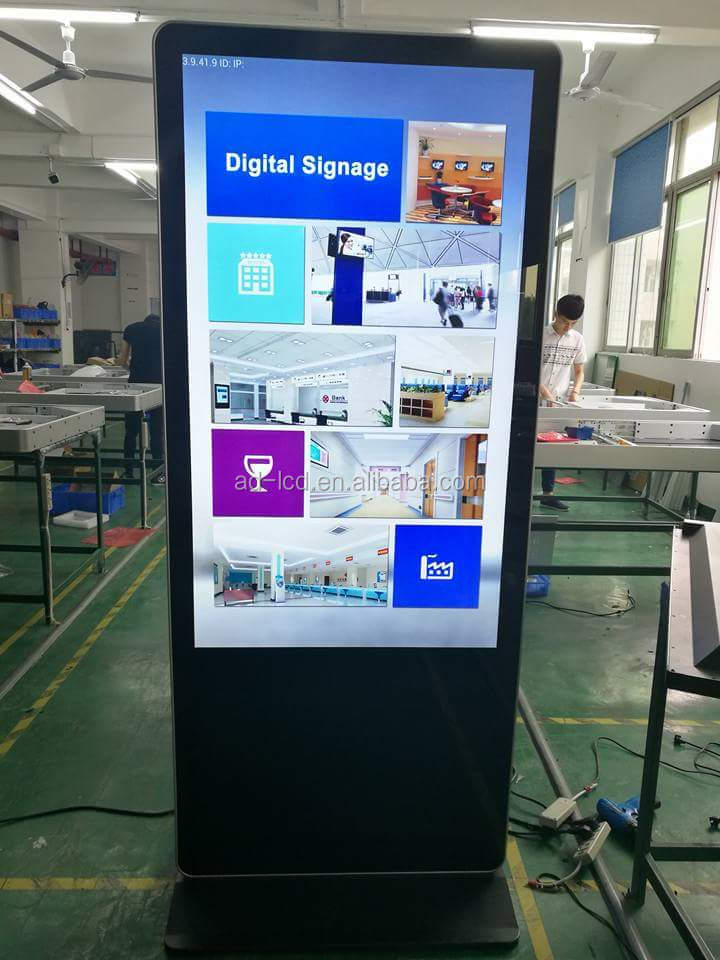 3000:1 Contrast Ratio 1080P lcd digital monitor 6ms response time LCD digital signage TOUCH SCREEN