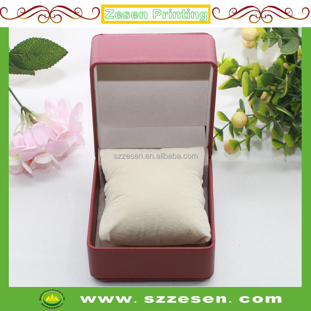 Wholesales high quality leather plastic paper luxury/watch gift packaging box with pillow
