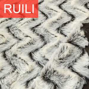 brushed waves plush fabric fashion garments fabric