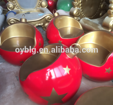 Grand in fibra di vetro grande decorative Christmas santa sedia, celebrazione grand Sedia
