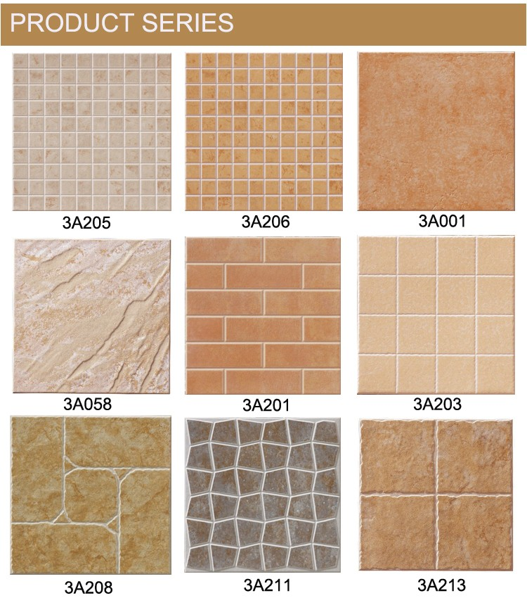 Discontinued Bathroom Tiles: Texture Bathroom Non-slip Tiles Ceramic Floor Tile (3A004
