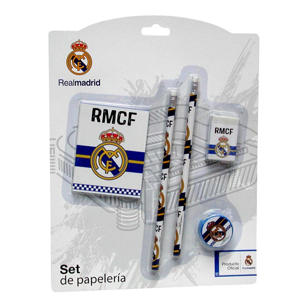 La Liga Real Madrid 5 Pieces Stationery School Set Official Product