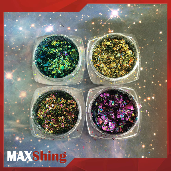 Chameleon Glitter Flakes Color change flake foil bulk glitters wholesale