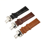 High quality butterfly buckle leather smart replacement watch strap