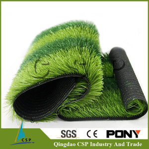 High density natural green mini football field artificial turf