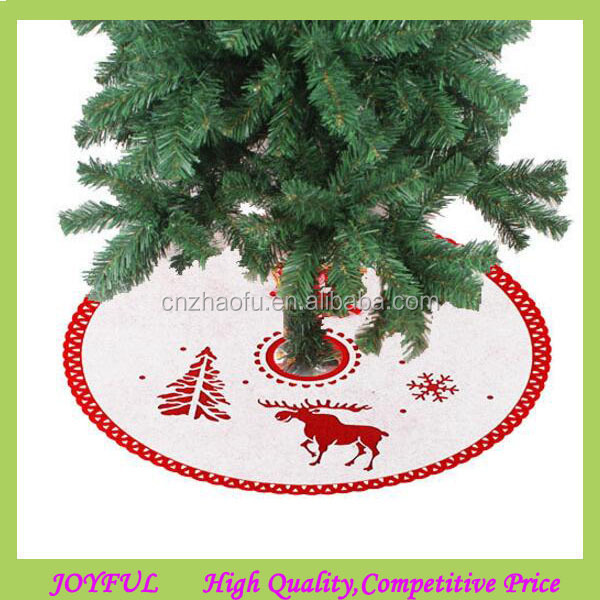 Latest design home christmas decorations wholesale christmas tree skirt