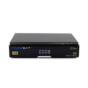 iptv web tv with dvb-s2 dvb-t2 dvb-cable Freesat v8 golden satellite receiver with biss key powervu decoder