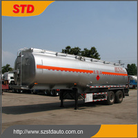 China cheap light duty double axles gas tank trailer