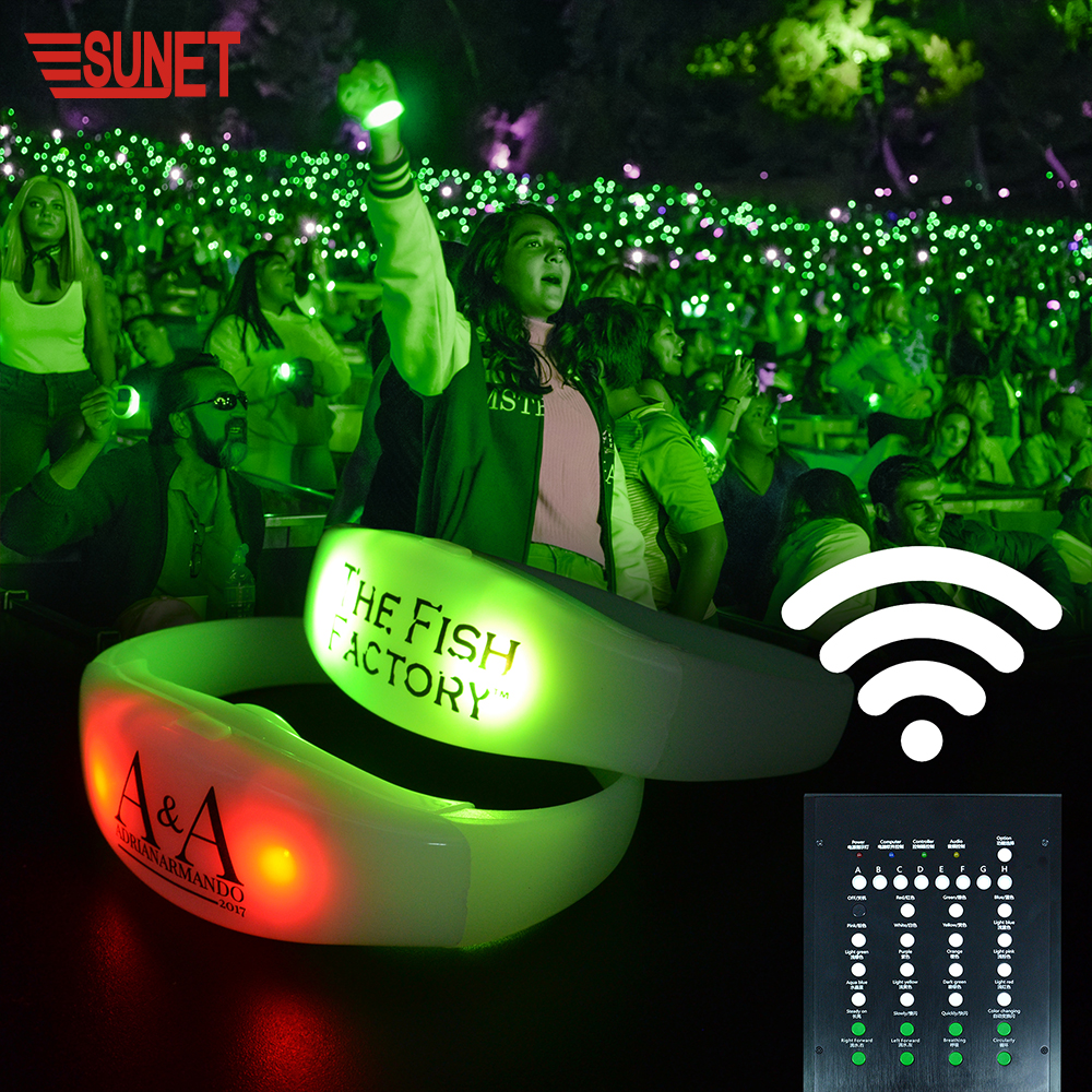2019 New Functions Remote Control Vibrating Led Bracelet For Events