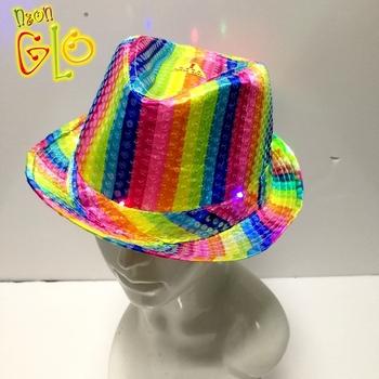 a9181665e Led Flashing Sequin Rainbow Fedora Hat Wholesale - Buy Rainbow Fedora  Hat,Sequin Rainbow Fedora Hat,Flashing Rainbow Fedora Hat Product on  Alibaba.com