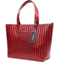 Iblue HA009 Women Large Red Leather Handbag Designer Hobo Purses Wholesale 18in