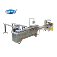 High Speed Full Automatic Energy Bar/ Cookie/Biscuit Flow Packing Line