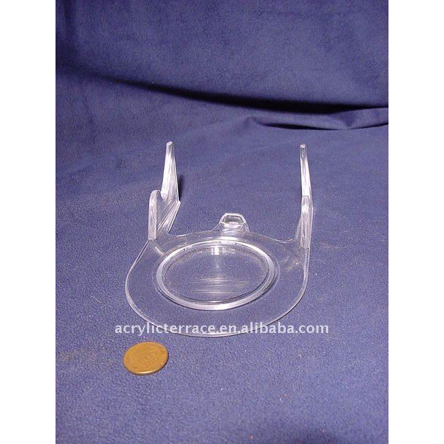 Clear Acrylic Cup and Saucer Display Stand