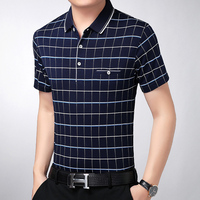 Hot sale new arrival casual style man's short sleeve grid uniform shirt