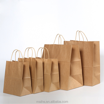 The Take Away Brown Paper Lunch Bags Carrier Out Product On Alibaba