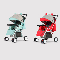 2019 new design small size light weight 400d plain polyester baby stroller / cheap baby pram / baby carriage 3 in 1